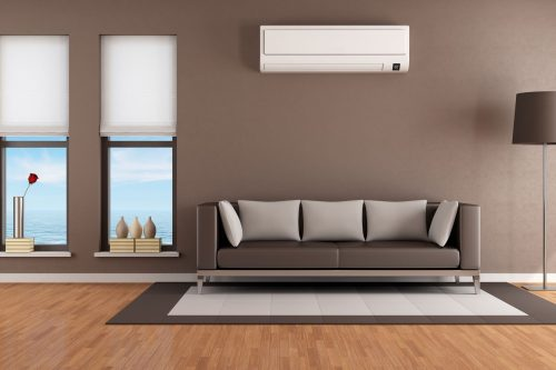 living room with the best air conditioner